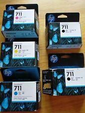 Genuine HP DesignJet 711 Cartuchos de Tinta Trabajo Lote 11 Unidades. Sellado. *
