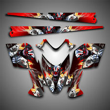 Polaris IQ RMK Shift Dragon Graphics Decal Wrap 05-12 with Tunnel Evil Joker Red