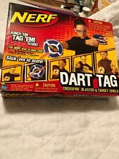 NERF 61877 Dart Tag STRIKEFIRE BLASTER, Taget Shield & Eye Wear with 6 Darts