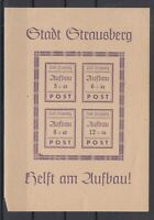 BY7099/ GERMANY – RUSSIAN ZONE – STRAUSBERG – BLOCK MI # 1 I MINT MH