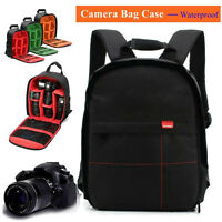 Waterproof DSLR Camera Case Backpack Shoulder Bag For Canon / Nikon / Sony New