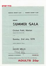 David Mills Middlesbrough 1968-79 & 1984-85 ORIG firmato MARTON Estate GALA PROG