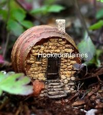 Barrel Fairy House Cottage TO 4159 Dollhouse Miniature Fairy Gnome Hobbit Garden