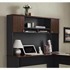 New listing L-Shaped Corner Computer Desk Wood Hutch Storage Home Office Student Furniture