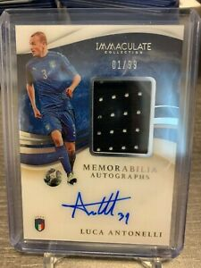 2020 Panini Immaculate LUCA ANTONELLI PATCH AUTO Serial #1 /99 ITALY