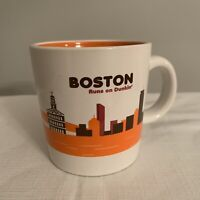 Boston Runs On Dunkin Donuts Destinations Coffee Mug Cup Limited Edition 2012