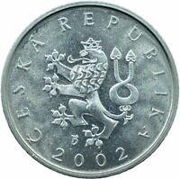 COIN / CZECH REPUBLIC  / 1 KORUNA 2002 PROOFLIKE MINT LUSTRE    #WT23491