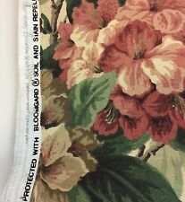 Bloomcraft Bloomguard FLORAL Hydrangea SCREEN PRINT Fabric 4yd x 1.5yd