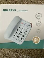 Big Keys Large Button Corded Telephone w/Speed Dial Memory, Volume Control. New