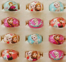 10pcs NEW Frozen Ana/Elsa Resin Rings Children Girls Party bag fillers Xmas Gift