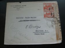 TUNISIA very nice censored cover mailed to the United States!