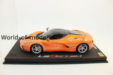 BBR 18130D Ferrari La Ferrari Met.Orange Carbon Roof lim.24Stück 1:18 NEU in OVP