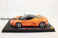 BBR 18130D Ferrari La Ferrari Met.Orange Carbon Roof lim.24Stück 1:18 NEU in OVP