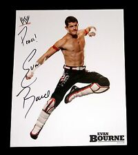 Wwe Evan Bourne Hand Signed Autographed 8X10 Unreleased Promo Photo W/Proof