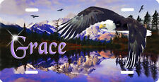 Eagle Purple Mountains Auto License Plate Personalize Any Name Or Text