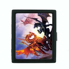 Metal Cigarette Case Holder Box Dragon Design-008 Custom Fantasy Creatures