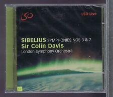 LSO LIVE CD NEW SIBELIUS COLIN DAVIS SYMPHONIES Nos 3 & 7