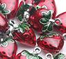 2/5x Red Strawberry Design Tibetan Silver Charms Pendant Bracelet Making 20*14mm