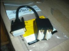 23 Pin Male DVI/PC 1 to 2 Dual Monitors/VGA15 pin Female Cable Adapter