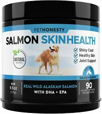 Omega 3 Fish Oil All-Natural Wild Alaskan Salmon Chews Healthy Skin Coat Itching