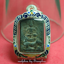 Phra Gru Dongtan Phim Song Seua (Metta) LP Phad (Real Silver Casing) MOST RARE!