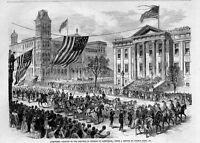 PARADE OF THE KNIGHTS OF PYTHIAS AT LOUISVILLE KENTUCKY 1873 GRAND REVIEW HORSES