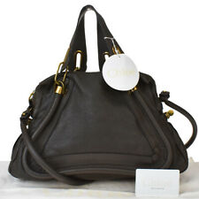Authentic CHLOE Paraty 2Way Shoulder Hand Bag Leather Brown Italy 80MD930