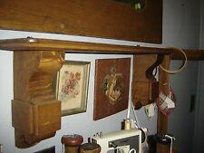 Antique Double Pedestal Oak Shelf Arts & Crafts Style.  8005
