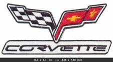 CHEVROLET CORVETTE Patch Aufnäher Bügelbild Auto Sportwagen V8 USA v2