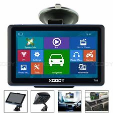 "XGODY 7"" Portable Car& Truck GPS Navigation Sat Nav Navigator Speed Cam new map"