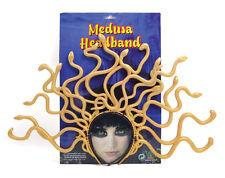 Medusa snake headpiece gold colour plastic costume accessory
