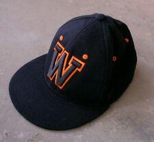 WYOMING COWBOYS Hat, Black with Orange, Excellent Condition Velocity Headwear