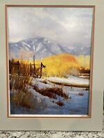 """1991 Taos Art Festival Poster W/ Mat 24"""" Tall ...18.75"""" Wide R. Vinella"""