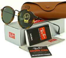RAY-BAN ROUND FLECK RB2447 1157 49MM TORTOISE-BLACK /  GREEN CLASSIC G-15