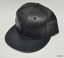Nwt New Era 59Fifty Neyyan NY Yankees Leather Baseball Cap Hat Navy/Navy 7 7/8