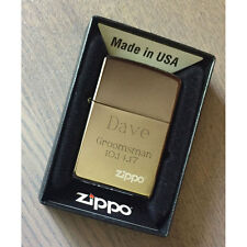 Custom Engraved Zippo 150ZL Black Ice Finish Personalized Lighter, New in Box