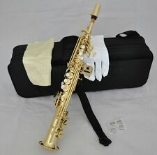 Professional gold sopranino Saxophone Low B to high F# Eb Sax with case