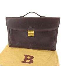 Bally Business bag Brown Gold Mens Authentic Used Y5381