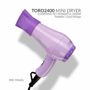 New!!Izutech TORO 2400 Mini Foldable HAIR Dryer In PURPLE! FREE SHIPPING USA