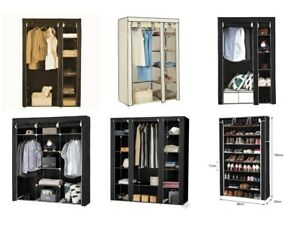 Faltschrank DIY Stoffschrank Kleider Regal Garderobe Schuhschrank Textil Schrank