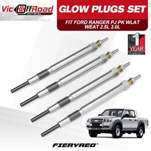 4Pcs Glow Plugs for Ford Ranger PJ PK Wlat Weat 2.5L 3.0L Diesel