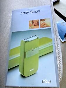 COSMETIC SHAVER LADY BRAUN VINTAGE BRAND NEW WITH BOX AVOCADO GREEN