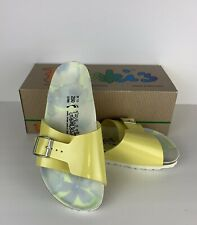 NIB Birkenstocks Birki's Women's 39 Catalina Lemon Patent Sandal Slide Buckle
