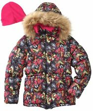Vertical '9 Winter Coat Size 5 6 Jacket Faux Fur Hood Black Butterfly $80
