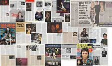 PAUL McCARTNEY : CUTTINGS COLLECTION -adverts etc-