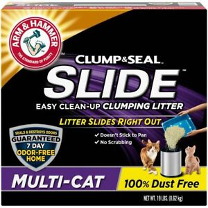 Arm & Hammer Slide Easy Clean Up Multi-Cat Clumping Litter - 19lbs