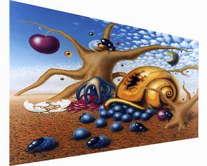 """framed Canvas Print Vintage Huge art Painting  Salvador dali desert bugs 30""""x24"""""""