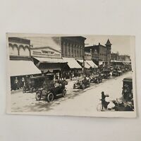 Antique RPPC Real Photograph Postcard Car Parade Street Scene Independence, OR