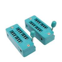 US Stock 2x 16 Pin 2.54mm ZIF ZIP IC Test DIP Board Socket Universal 216-3345