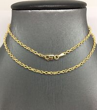 14K Yellow Gold Double Rolo Chain 20 Inches